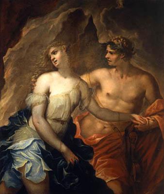 Orfeus & Eurydike, målning av Federico Cervelli