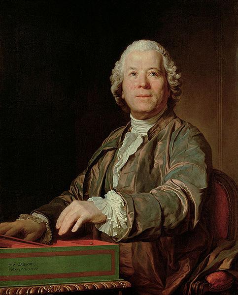 Christoph Willibald Gluck, målning av Joseph Duplessis. Foto från WikiCommons.