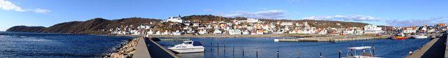 Panora rånhamnpiren i Mölle. Foto: WikiCommons.