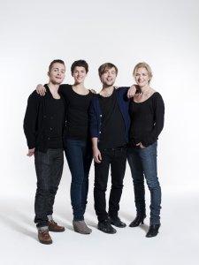 Robert Noack, Maria Ylipää, Oskar Nilsson och Birthe Wingren i Kristina från Duvemåla, foto - Jimmy Eriksson.