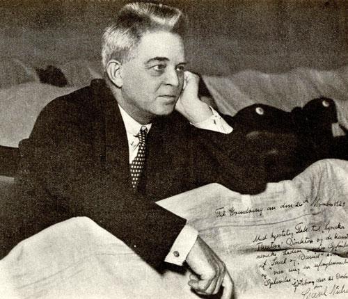 Carl Nielsen på Storan i Göteborg 1928. Foto: Wikimedia Commons.