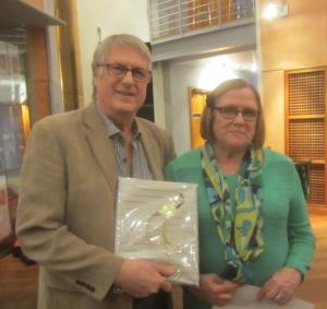 Stig och Rigmor Börjesson blev varmt avtackade vid årsmötet.
