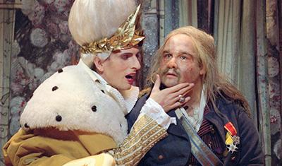 Askungen - med Åke Zetterström och Marcus Schwartz i två ledande roller. Foto: Ingmar Jernberg.