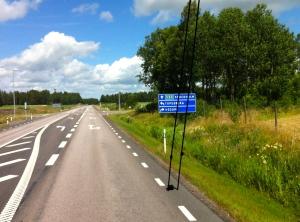 På väg till sommaroperan på Läckö slott. Foto: Eskil Malmberg.
