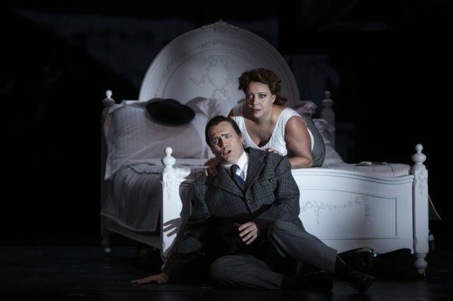 John Lundgren and Nina Stemme in Notorious. Photo - Mats Bäcker.