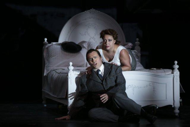 John Lundgren and Nina Stemme in Notorious. Photo - Mats Bäcker.